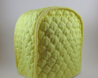 Sunny Yellow Vintage Quilted Small Appliance Cover