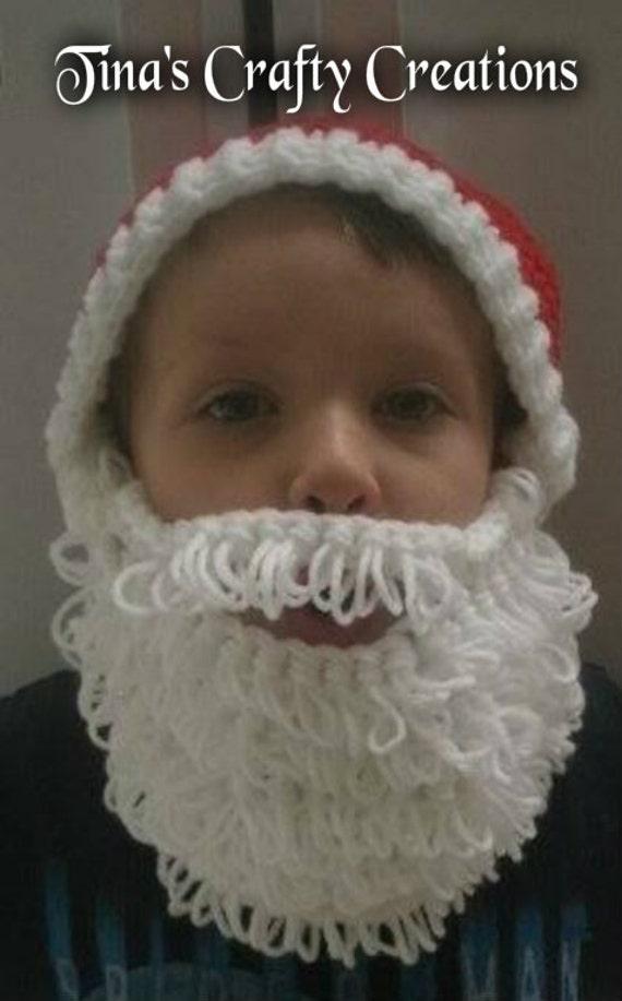 Nikolausmütze Weihnachtsmütze mit Bart häkeln