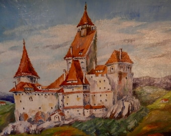 Bran Castle - Romanian Oil Painting