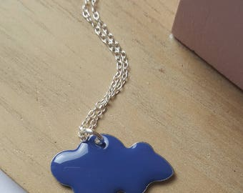Dark blue cloud necklace