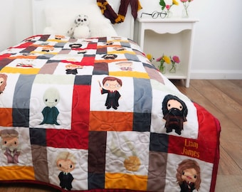 Harry Potter baby quilt, handmade and perfect for a Harry Potter nursery