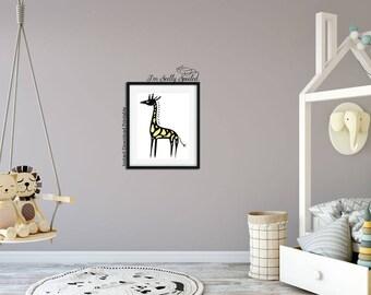 Giraffe, Giraffe Print, Giraffe Art, Giraffe Decor, Giraffe Baby Shower, Giraffe Wall Art, Giraffe Nursery, Nursery Decorations, Nursery Art