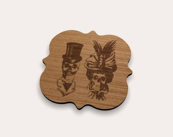 Victorian Skulls Coaster 262-428