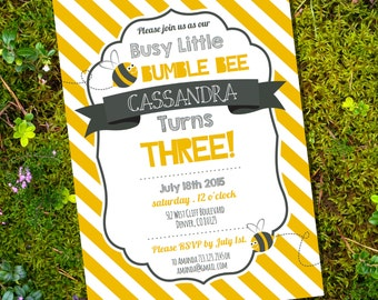 Bee birthday invite etsy busy little bumble bee party filmwisefo