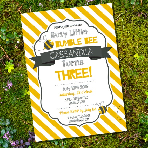 Busy little bumble bee party theme busy bee birthday party busy little bumble bee party theme busy bee birthday party invitation instant download and edit file at home with adobe reader filmwisefo Images