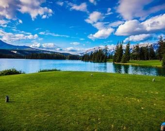 Rocky Mountains Golf Print