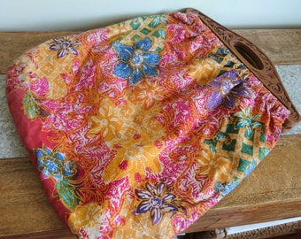 Handmade Abstract Colourful Knitting, Craft, Sewing Bag
