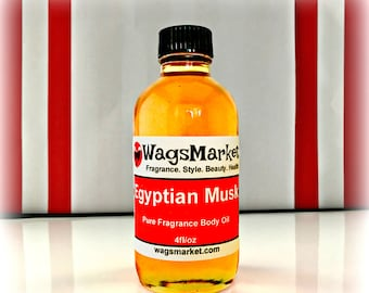 Egyptian Musk Oil, 4oz Bottle, 100% Pure and Thick Musk Fragrance Body Oil, Perfume Oil, FREE SHIPPING in US.