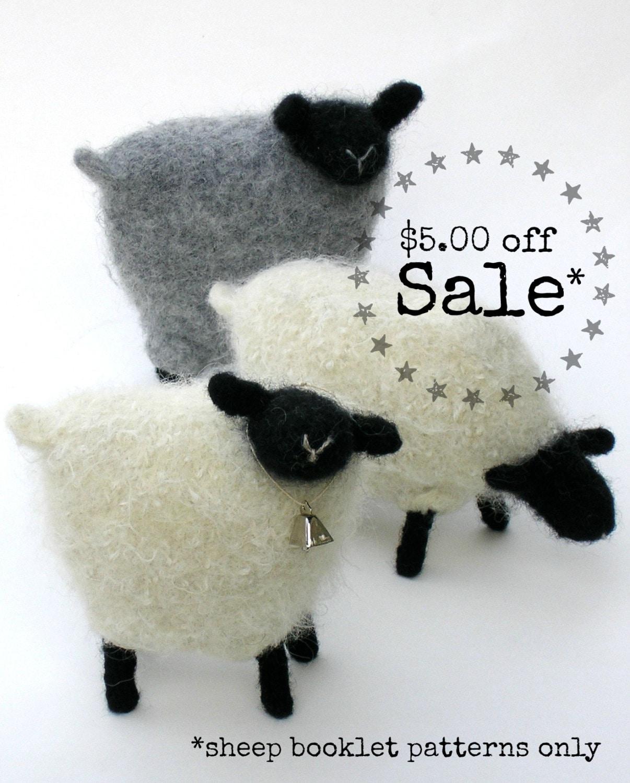 SALE 50% off! PATTERN-BOOKLET. A Knit & Felt Wool Sheep Pattern from ...