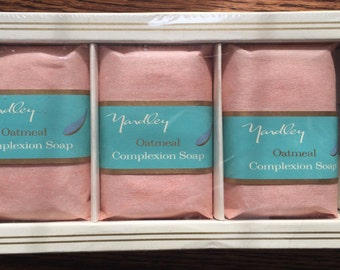 Vintage Yardley Oatmeal Complexion Soap 3 x 3 0z. tablets