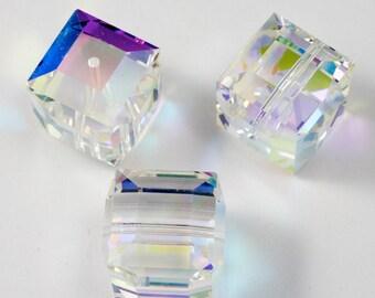 14mm Crystal AB Cube #5601
