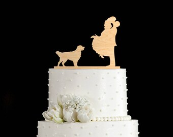 Golden Retriever wedding cake topper,Golden Retriever cake topper,golden retriever wedding cake,golden retriever wedding topper,6482017