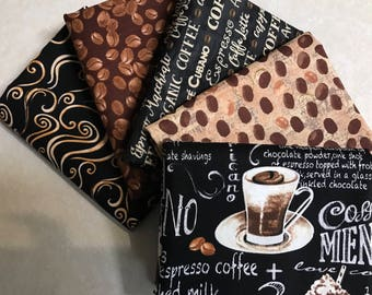 Coffee Half yard bundle (5)