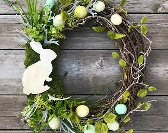 Easter Bunny Wreath, Spring Wreath, Easter Decor