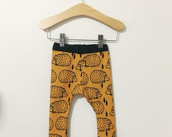 Mustard Hedgehog Baby and Toddler Pants