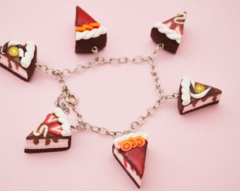 Chocolate Fruits Cakes Bracelet