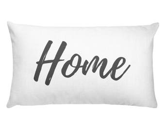 Lumbar Pillow - Home | Personalized Pillow |  Throw Pillow | Monogrammed Gift | Rustic Home Decor | Home Decor | Farmhouse Decor