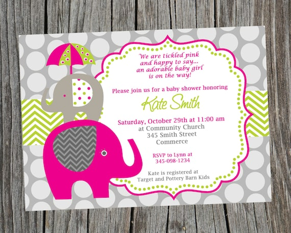 Elephant invitation baby shower invitation elephant shower filmwisefo Gallery