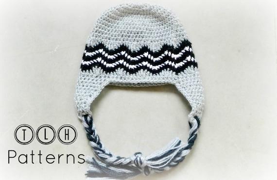 Crochet Hat Pattern Crochet Earflap Hat Chevron Hat Pattern