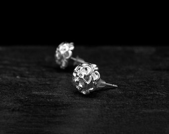 Silver Bouquet Studs/ Sterling Silver Stud/ Silver Blossom Studs/ Silver Post Earrings/ Silver Flower Studs