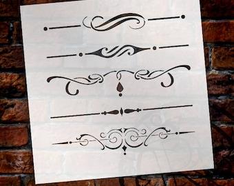 Underline Accents - Art Stencil - Select Size - STCL1120 - by StudioR12