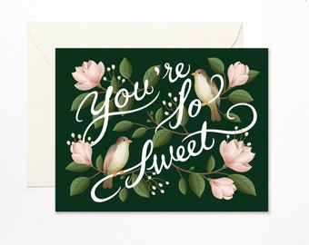Birds and Magnolias Card