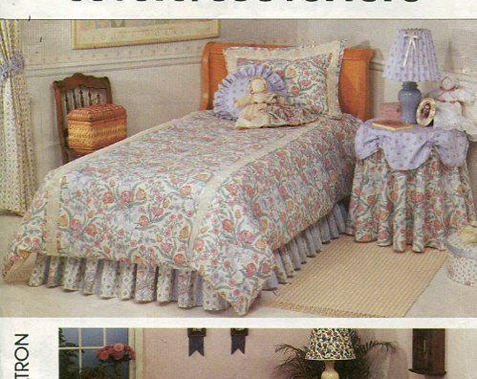 Free Us Ship Simplicity 9800 Bedding Slipcovers Table Covers 1990 Home OOP  Uncut Sewing Pattern Out of Print