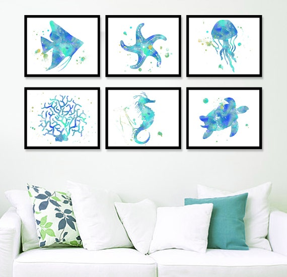 Coastal Wall Decor Part - 17: Nautical Home Decor Coastal Wall Art Beach Art Print Sea