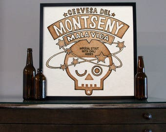 Beer Art - Craft Beer Art - Beer Painting - Montseny Beer Art