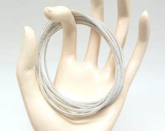 2 bracelets Cannetille Fine silver, clear - 19 cm