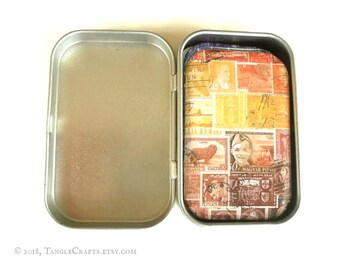 Tiny Tin with Interchangeable Stamp Art Fridge Magnet