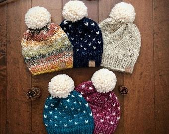 Custom Knit Hat/Knit Hat/Pom-Pom Hat/Warm Winter Hat/Knit Beanie/Pom Pom Beanie/Men Beanie/Women Hat/Kids Hat/Baby Hat/Hats for the family