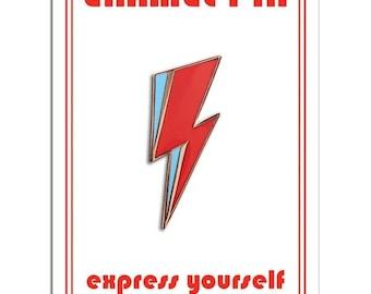 David Bowie Lightning Bolt Symbol Enamel Lapel Pin