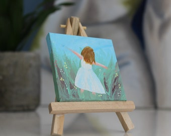 Girl tiny painting