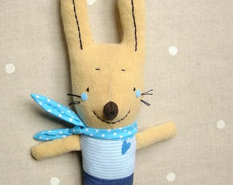 Cute Bunny toy Stuffed rabbit toy Soft Rabbit toy Kids gift Stuffed animal Gift for children Birthday gift Soft Handmade Bunny 40 cm