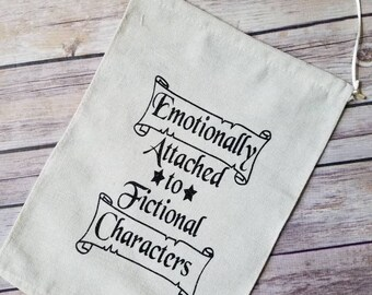 Emotionally attached to fictional characters pin banner, bookish, enamil pin, literary banner, bookish, badge display, pin storage, pin flag
