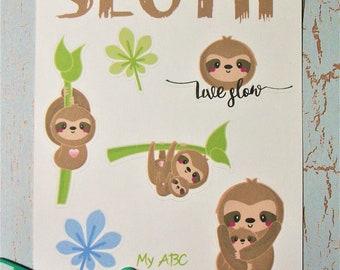Sloth Planner Stickers Erin Condren Life Planner Cute Planners Happy Planner Sticker Sheet Character Sticker Sheet Rainforest Jungle