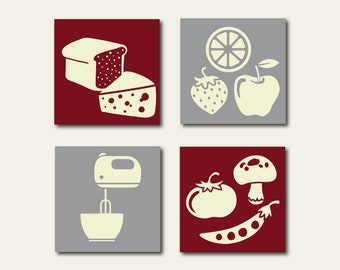 kitchen gallery wall collection kitchen wall art kitchen wall decor kitchen print set - Kitchen Art