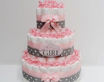 Diaper cakes with a name