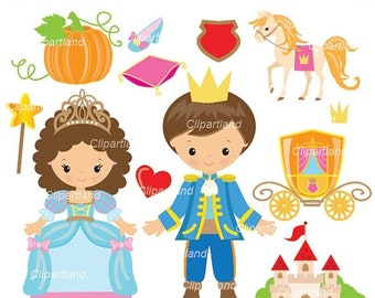 ON SALE INSTANT Download. Cinderella clip art. Ccind_12. Personal and commercial use.