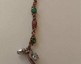 Autumn themed hemp key chain
