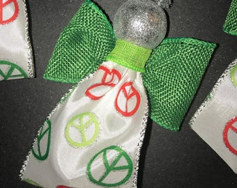 Angel Ornaments PEACE theme - 1 more available | will make more, made to order while supplies last | handmade by me, JLynne