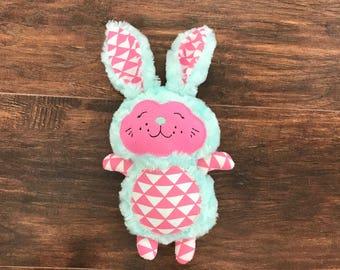 Easter Bunny, Stuffed Easter Bunny, Blue Stuffed Bunny, Gender Neutral Stuffed Bunny, Girl Stuffed Bunny, Stuffed Bunny, Easter Gift