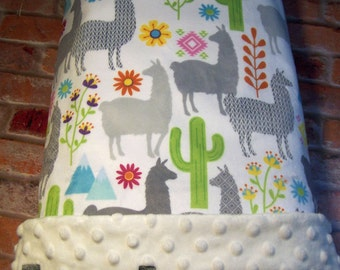 Cactus Blanket, Baby Gift, Baby Shower Gift, Personalized Baby Blanket, Baby Blanket, Blanket, Girl Blanket, Minky Blanket, Embroidered