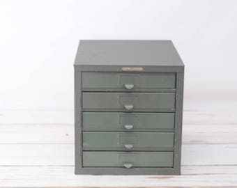 Kennedy Medium Size 5-D  5 Drawer Parts Cabinet Kennedy Toolbox Parts Bin VGC