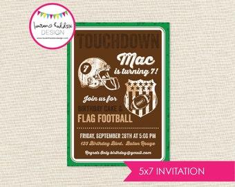 Vintage Football Birthday Invitation, Vintage Football Birthday, Vintage Football Printables, Football Decorations, Lauren Haddox Designs