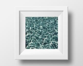 Pool Water Print, Water Print, Abstract Art, Water Photography, Water Art, Abstract Wall Art, Photography, Pool Print, Instant Download Art