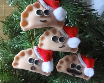 One SANTA Pierogie Pal™ Ornament or Magnet Custom Made *Please Read Item Description and See Pictures for Details*
