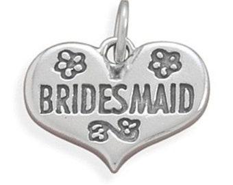Sterling Silver Bridesmaid Charm
