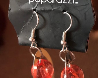 Paparazzi Orange Earrings